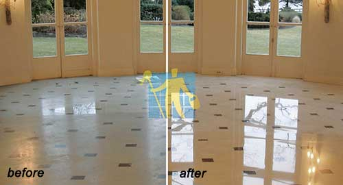 floor marble tile before and after cleaning repairing