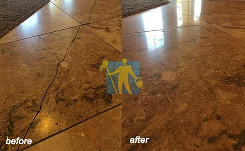 travertine before and after repairing Perth
